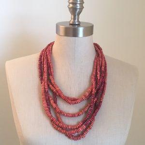 LOFT Wooden Bead Necklace